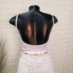Body Canelado Decote Reto Branco