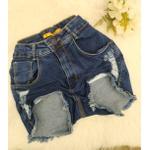 Shorts Jeans Melinda Com Rasgos Escuro