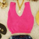Cropped Tricô Pink