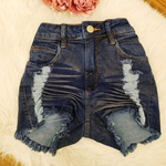 Shorts Jeans Melinda Franzido com Brilho