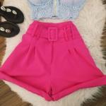 Shorts Alfaiataria C/ Cinto Pink