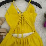Vestido Babado Alcinha Amarelo