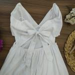 Vestido Aberto na Lateral Branco