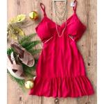 Vestido Aberto na Lateral Vermelho