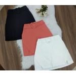 Shorts Saia Com Cinto De Coração Coral