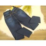 Calça Jeans Escura Detalhe Mais Claro
