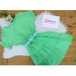Vestido Babado Verde