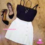 Shorts Saia Branco