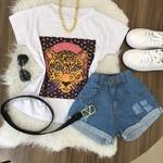 Shorts Jeans Lirus Barra dobrada