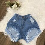 Shorts Jeans Lirus Claro desfiado