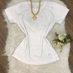 Blusa Ribana manga curta branca