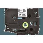 Fita laminada tze-261 36mm preto/branco