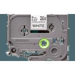 Fita laminada extra forte tze-s211 6mm preto/branco