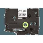 Fita flexivel tze-fx251 24mm preto/branco