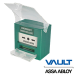 Acionador de emergencia rearmavel c/ capa verde chave reset na/n cp32g