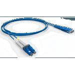 CORDAO DUPLEX CONECTORIZADO SM LC-UPC/SC-UPC 2.5M - COG - AZUL
