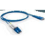 Cordao duplex conectorizado sm lc-spc/sc-spc 3.0m - cog - azul