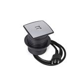 CAIXA MULTY C/ 2 USB 5V 2.1A COM CABO DE ALIMENTAÇÃO - PRETO E TAMPA PRATA