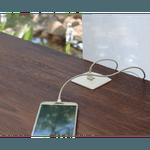 CAIXA MULTY C/ 2 USB 5V 2.1A COM CABO DE ALIMENTAÇÃO - BRANCO
