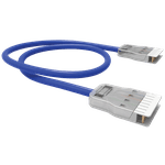 PATCH CORD 1P (VOZ) FISAFLEX - CM - RJ-45/110IDC - 3.0M - AZUL