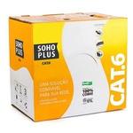 Cabo sohoplus u/utp 24awgx4p cat-6 cmx az rohs (caixa 305m)