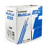 Cabo transmissao de dados multilan u/utp 24awgx4p cat.5e cm az rohs cx (caixa 305m)