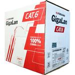 Cabo gigalan u/utp 23awgx4p cat.6 cm vm rohs (caixa 305m)