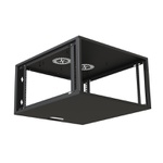 Ecoflex rack de parede c/ porta acrilico 12u 470mm preto