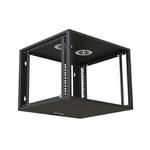 Ecoflex rack de parede c/ porta acrilico 16us 570mm preto