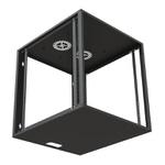 Ecoflex rack de parede c/ porta acrilico 04us 570mm preto