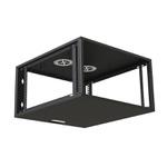 Ecoflex rack de parede c/ porta acrilico 06us 470mm preto