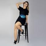 Vestido Camiseta - Preto