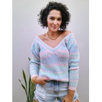 Blusa de tricot Chloe - Arco Íris