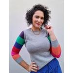 Blusa de tricot Colors - Cinza