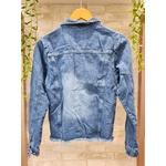 Jaqueta Jeans com Botão Encapado