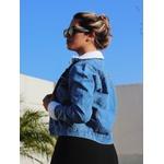 Jaqueta Jeans com detalhes em pelúcia