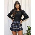 Blusa de tricot Juliana - Preto