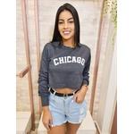 Blusa Moletinho Chicago - Cinza