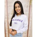 Blusa Moletinho Califórnia - Branco