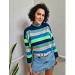 Blusa de tricot Rainbow - Azul e Verde