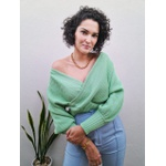 Blusa Tricot Valentina - Verde Água