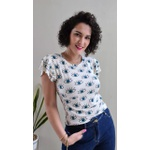 Blusa Luísa - Olho Grego Off White