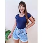 Body Manga Curta - Azul Marinho