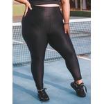 Calça Legging Longa 3D Plus Size - Preta