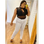 Calça Brim Básica - Branca Plus Size