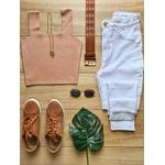 Calça Jeans Carmem - Delavê Cintura Alta