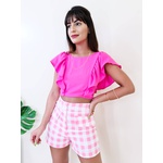 Cropped Claritta - Rosa Chiclete