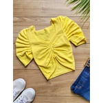Cropped Tricot Gabriela - Amarelo Claro