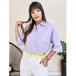 Cropped Camisa Fiorella - Lilás
