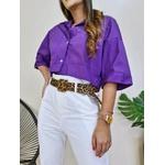 Cropped Camisa Fiorella - Roxa